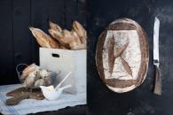 surdegsbröd, baguetter
